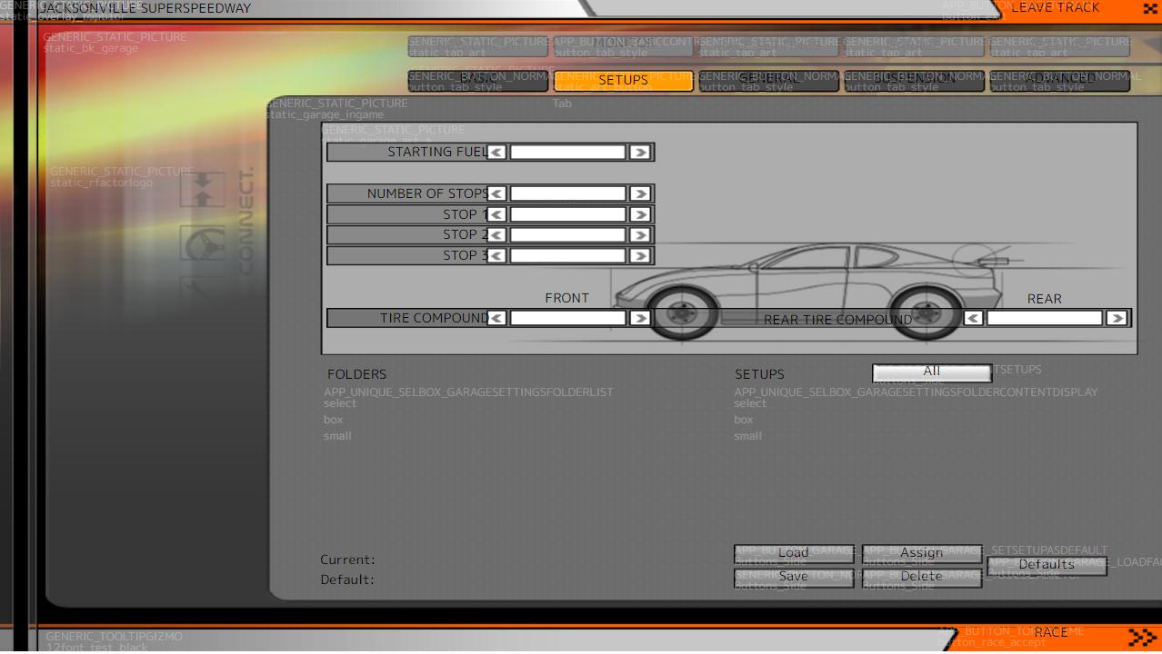 rFactorのインターフェスデザインエディター